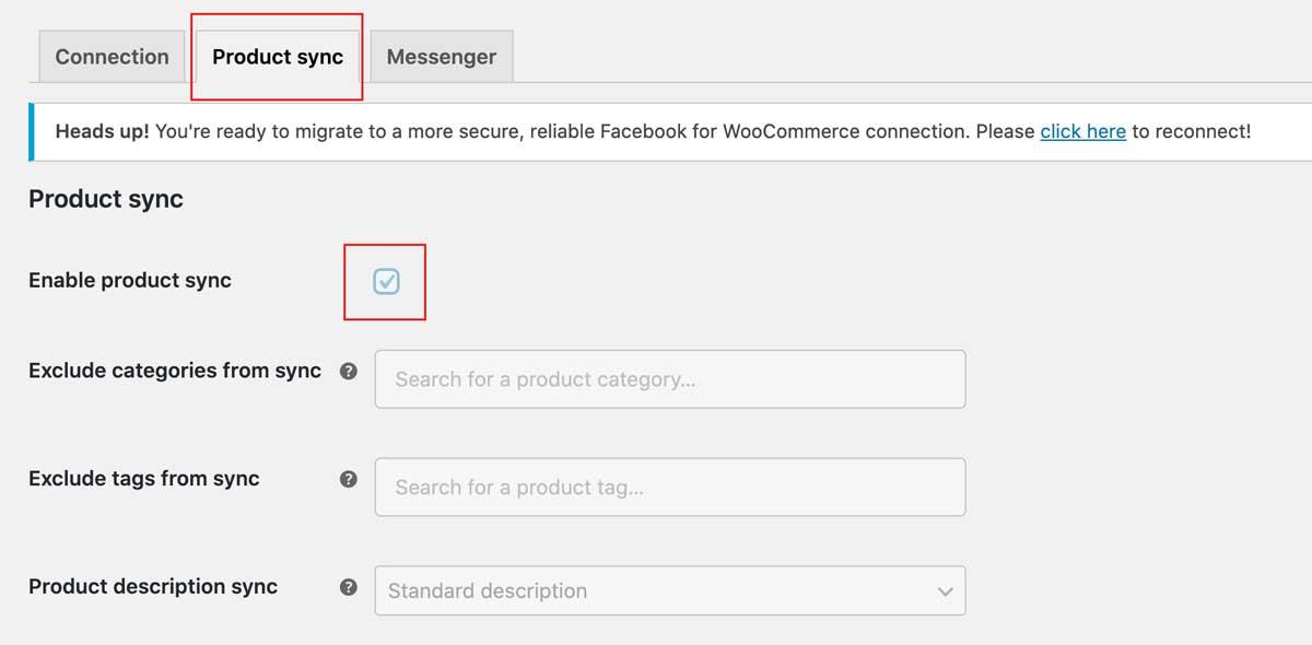 設定 Facebook for WooCommerce