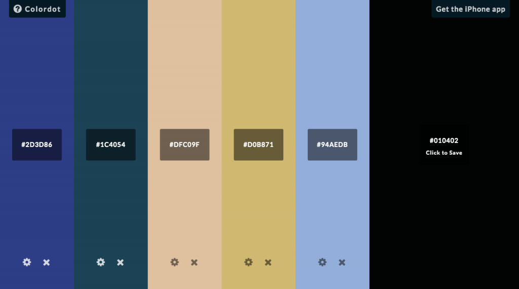 網頁配色網站:Colordot