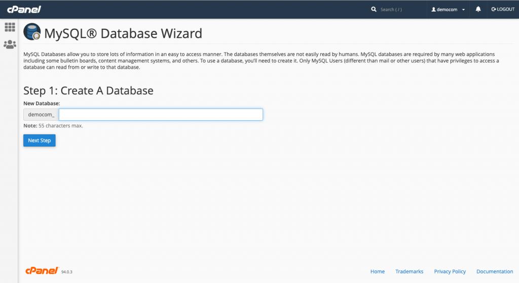 虛擬主機搬家步驟:建立資料庫