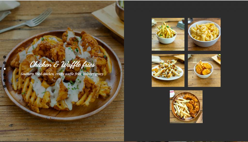 餐廳一頁式網頁案例